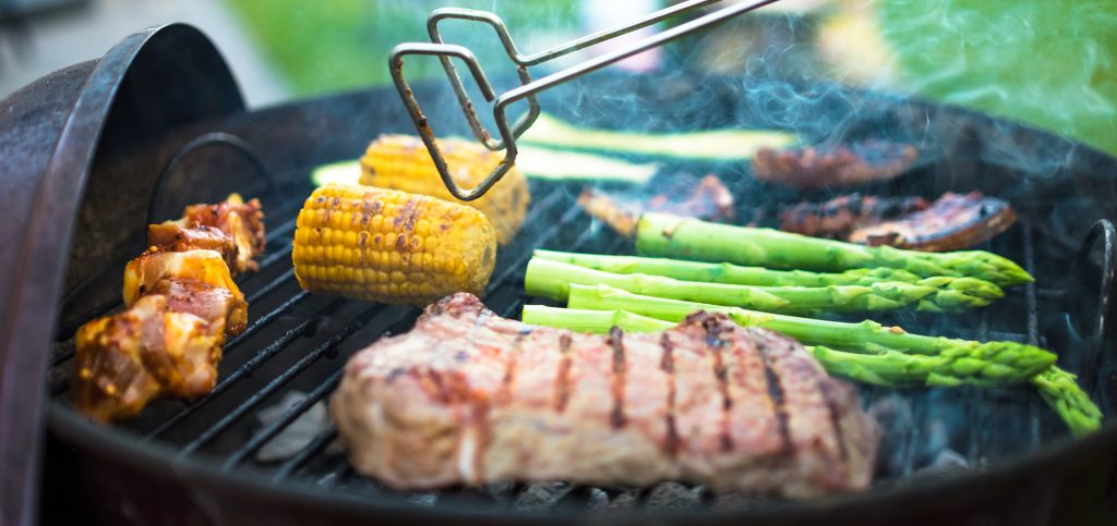 Meat Veggies on Grill