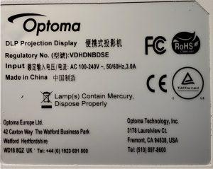 Regulatory Dataplate HD28DSE