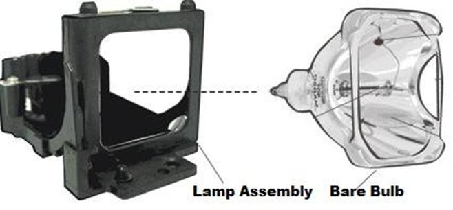 lamp assembly bare bulb diagram